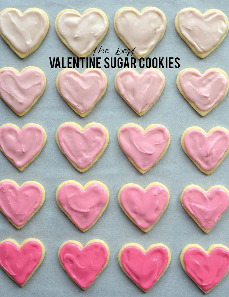 The Best Valentine Sugar Cookie Recipe