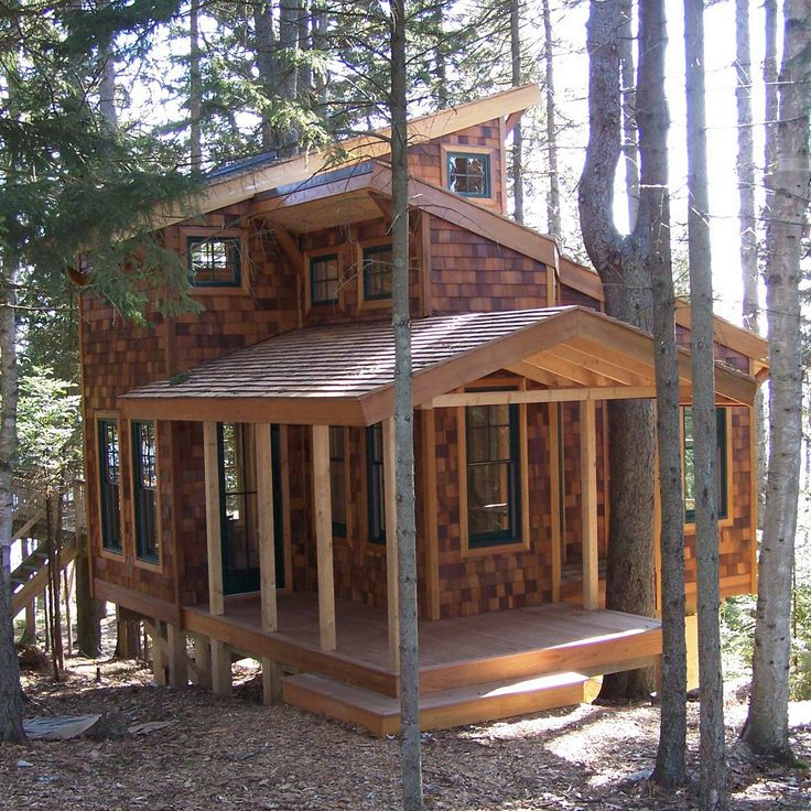 9 Ideas For Small Homes Cabins: Island Tree House Http://davidmatero.com/portfolio