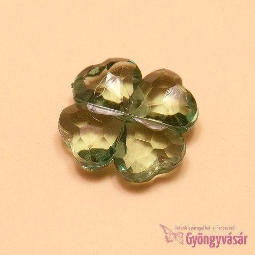 Négylevelű lóhere - akril gyöngy