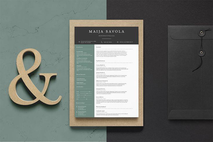 Visuaalinen CV pohja - Maija