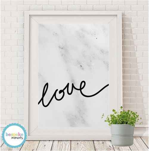Love Print by Bespoke Moments. Worldwide Shipping Available.
