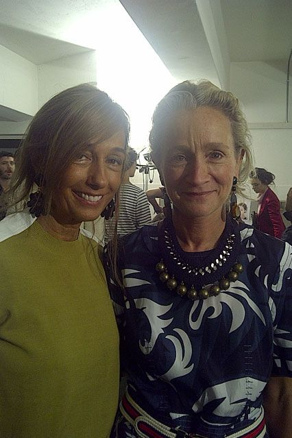 Marni's Consuelo Castiglioni and Vogue's Lucinda Chambers