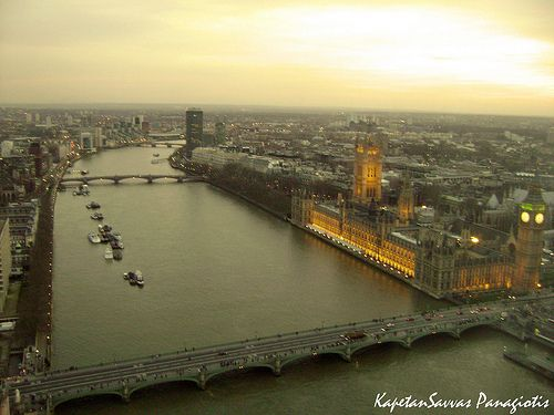 View of Parliament and Big Ben from the London Eye