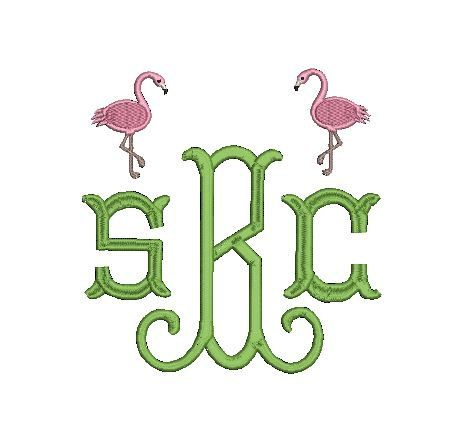 Flamingo Design Mini File for Embroidery by SouthernBabyClassics