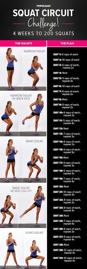 Squat challenge...starting tonight!