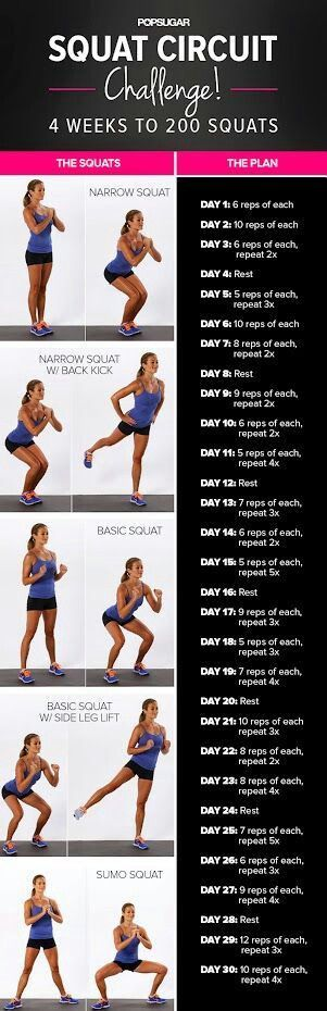 Squat challenge...starting tonight!