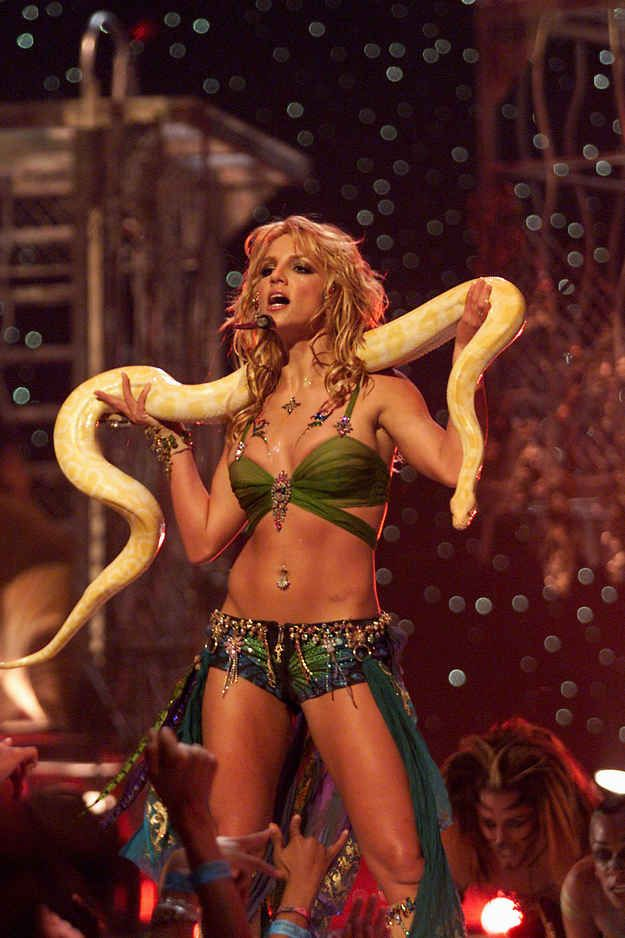 But when on stage, swap it for a snake.