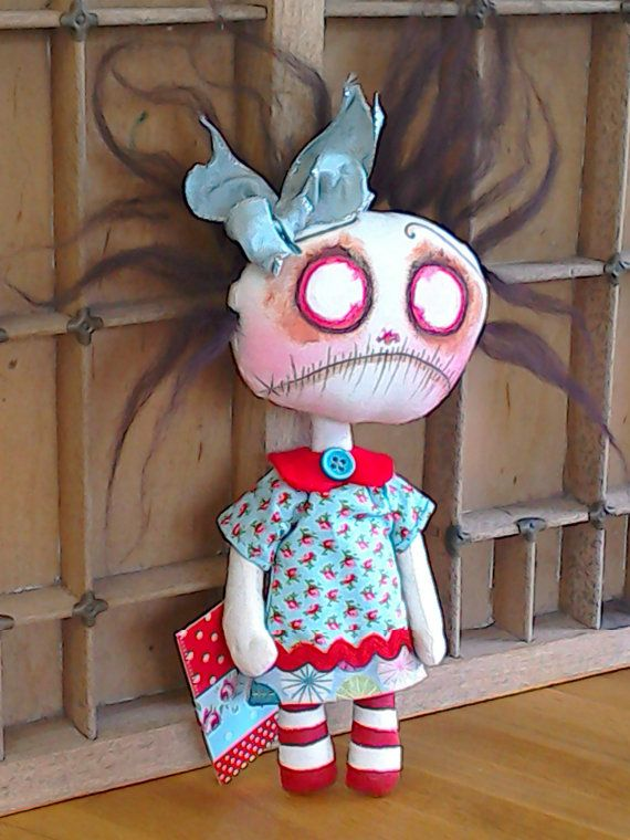 Handmade Primitive Gothic Zombie Doll Drear by CrowHouseDolls
