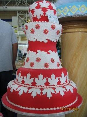 Canadian Flag Wedding Cake