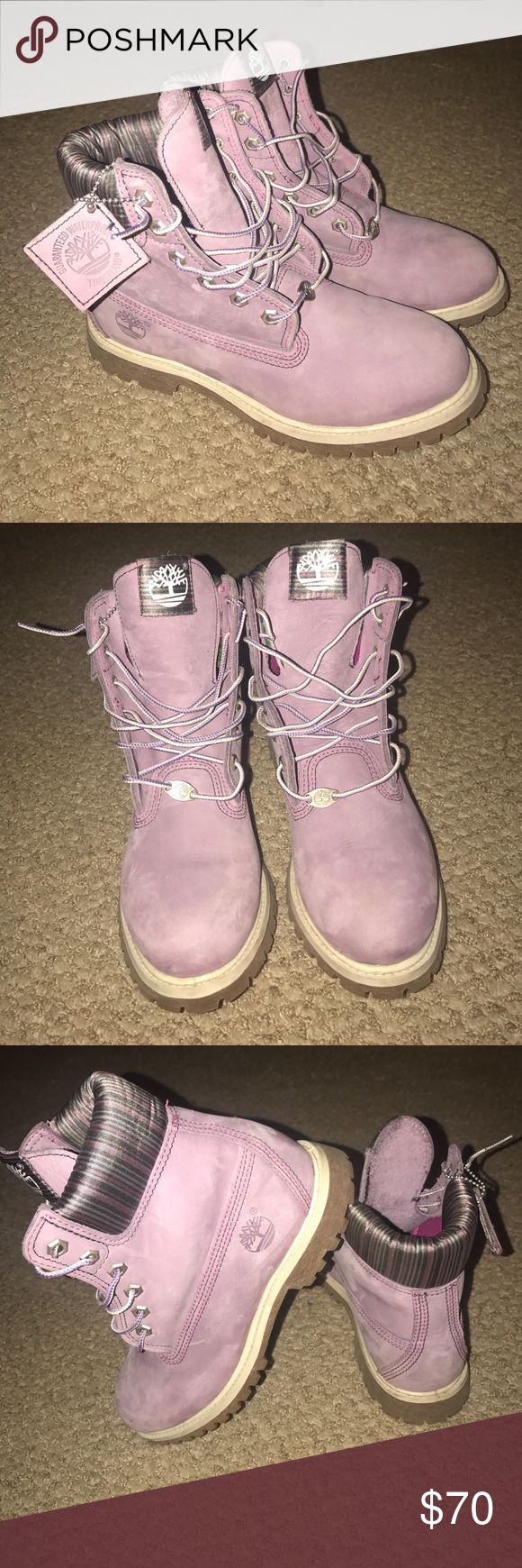 Timberlands Brand new never before worn light purple timberland boots. Timberland Shoes Winter & Rain Boots