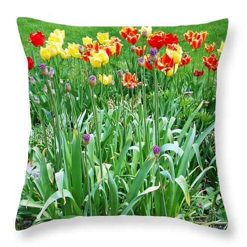 "Colorful Spring Throw Pillow for Sale by Aimee L Maher Photography and Art Visit ALMGallerydotcom. Our throw pillows are made from 100% spun polyester poplin fabric and add a stylish statement to any room. Pillows are available in sizes from 14""x14"" up to 26""x26"". Each pillow is printed on both sides (same image) and includes a concealed zipper and removable insert (if selected) for easy cleaning. Ships within 2-3 business days"