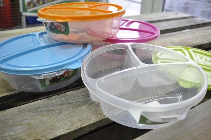 Cutie cu 3 compartimente la picnicuri sau  masa de pranz la birou. art.-nr: 00926. Lei 11.-