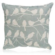 Give your sofa a makeover with this gorgeous bird design cushion which measures 43 x 43cm. It's part of our Nest range; a trend inspired by woodland animals and the outdoors featuring neutral tones and natural materials. Additional co-ordinating items from our Nest trend are available across our Home and Kitchen ranges.<BR> <BR>Material: 100% polyester