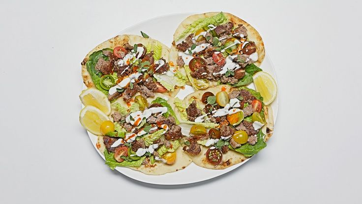 Did you think a juicy, savory, filling gyro was only something you could find at a Greek restaurant? Think again. Our version has everything you love about the classic—crispy lamb, creamy yogurt, and crunchy vegetables—and serves it up fast using only 10 ingredients. And, if you're not a lamb person, you can easily make this recipe with ground pork or beef.