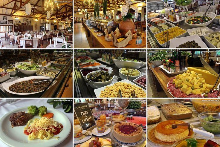 Refeições e sobremesas servidas no almoço e jantar no Monreale Resort Hotel, em Poços de Caldas.