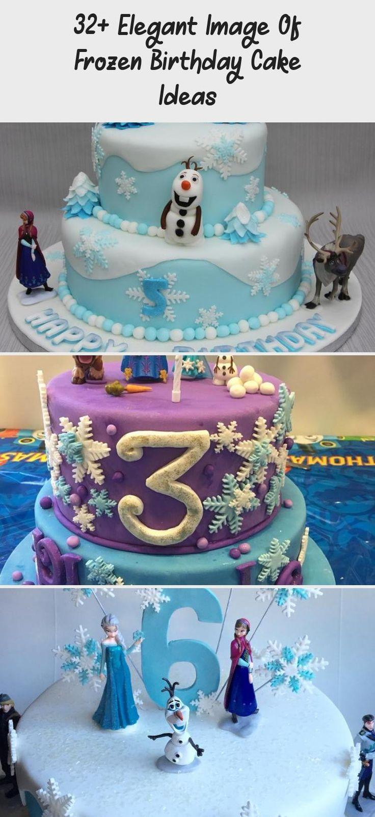 32+ Elegant Image Of Frozen Birthday Cake Ideas Frozen