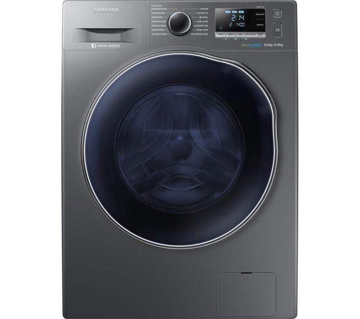 SAMSUNG ecobubble WD90J6410AX/EU Washer Dryer - Graphite