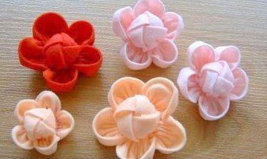 Канзаши. Японские цветы из ткани. Обсуждение на LiveInternet - Российский Сервис Онлайн-Дневников