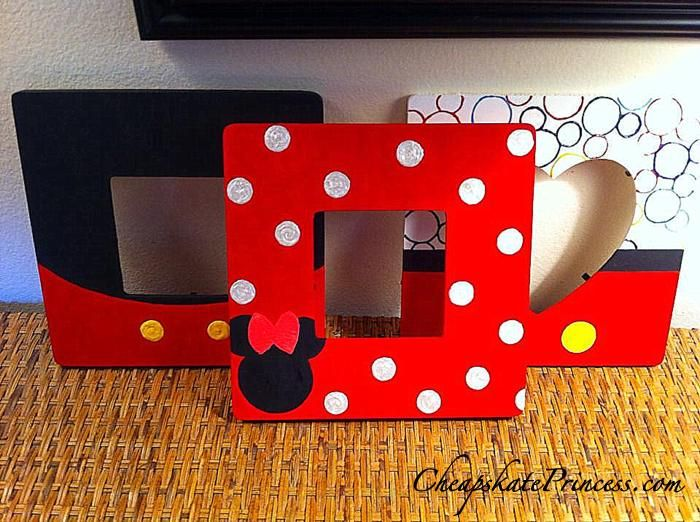 make your own Disney character picture frames