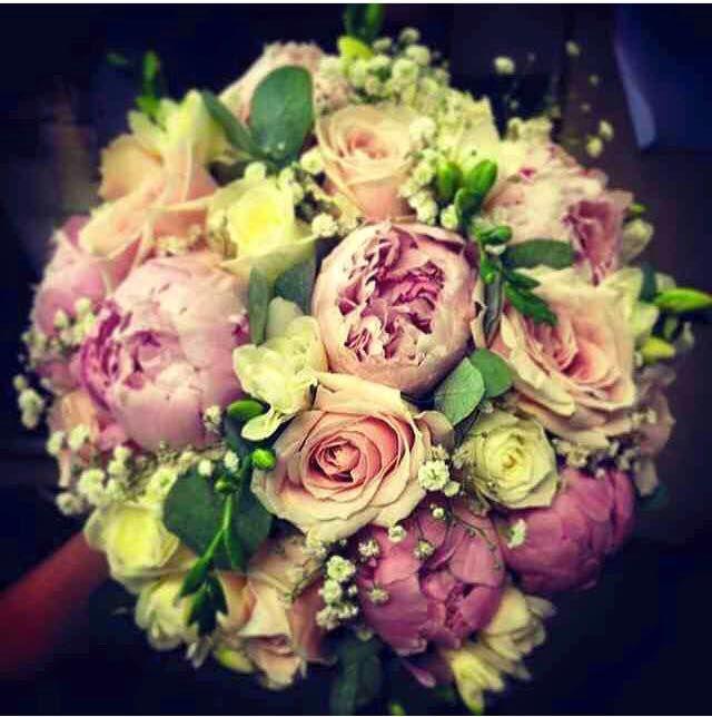 Fishlocks Rose & Peony Bridal Bouquet