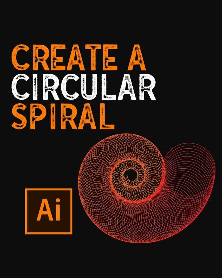 How to create a circular spiral in illustrator video in