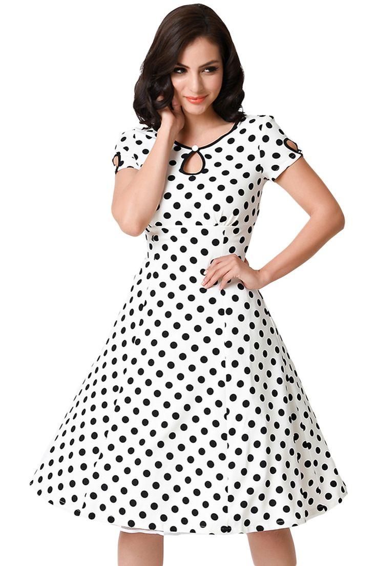 2016summer womens ladies dresses Dotted Cap short sleeve casual Dress robe longue femme damen kleider zomer jurk dress
