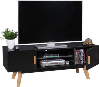 Unique Wohnling WOHNLING Retro TV Lowboard SCANIO cm MDF Holz Landhaus T ren u Fach