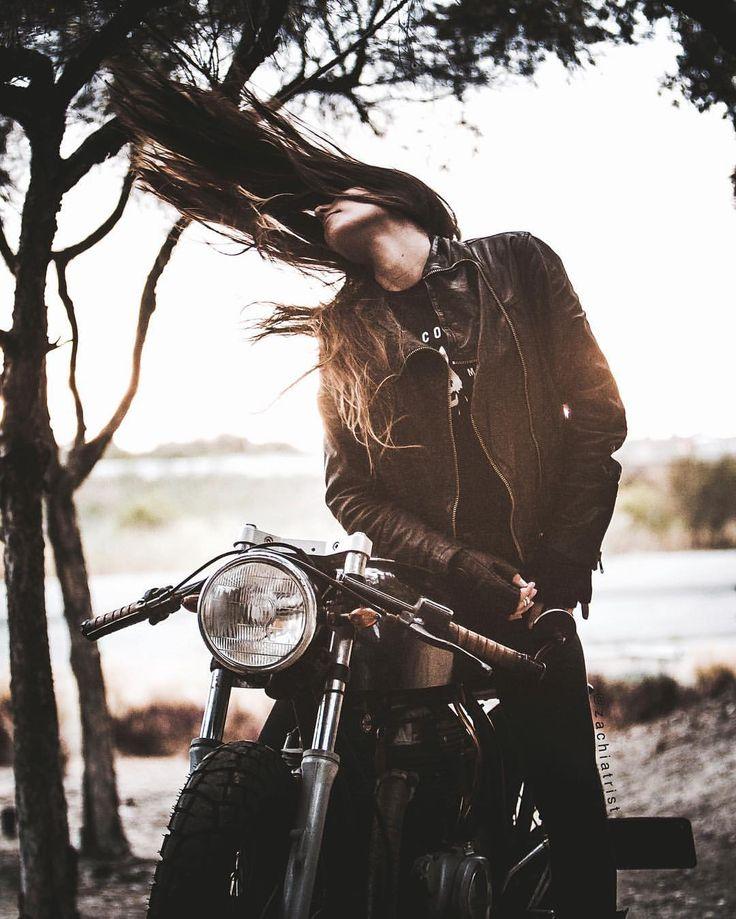 Hair and bike.