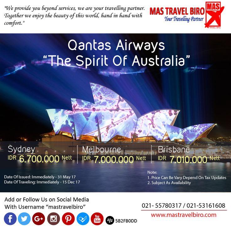 Flight to Sydney Only IDR 6.700.000/Pax Nett PP. Book Now !! ;) #mastravelbiro #ticketpromo #australia #sydney