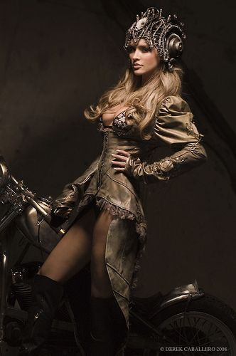 Futuristic motorcycle outfit. Strictly for the wild and fearless