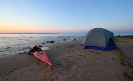Beach camping...better than any 5 star hotel.  Nothing like looking up at the stars and waking up to ocean waves 10 feet away.