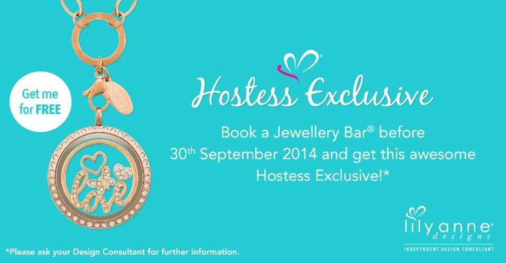 {Hostess Exclusive} Book a Jewellery Bar before 30th September 2014 & get this awesome Hostess Exclusive! http://www.LilyAnneDesigns.com.au/PetaKidd