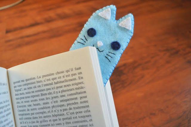 DIY marque page chat en feutrine