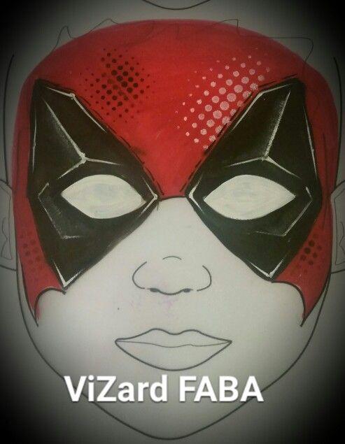 Deadpool face paint marvel painting boy design