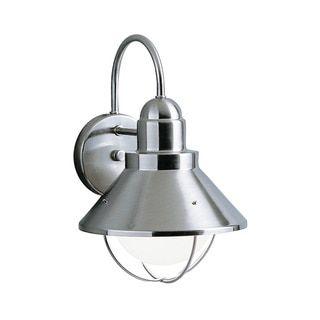Brushed Nickel 1-light Outdoor Wall Light Fixture | Overstock.com Shopping - The Best Deals on Wall Lighting