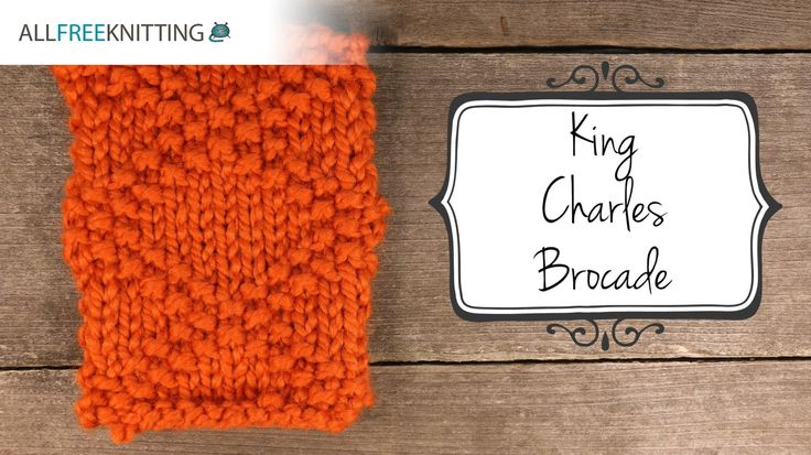 Join Heidi as she teaches us how to know the king charles brocade stitch