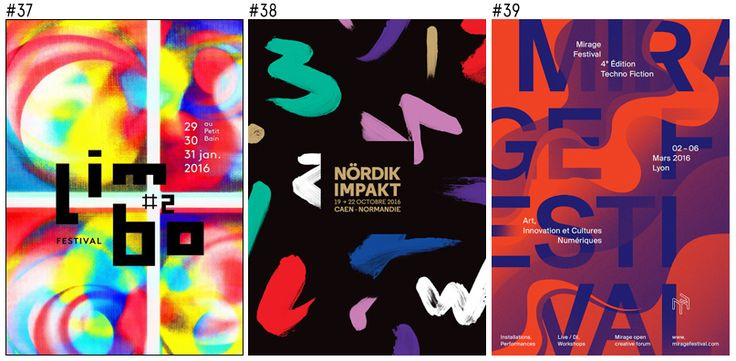 The 100 most beautiful posters of French's festivals in 2016