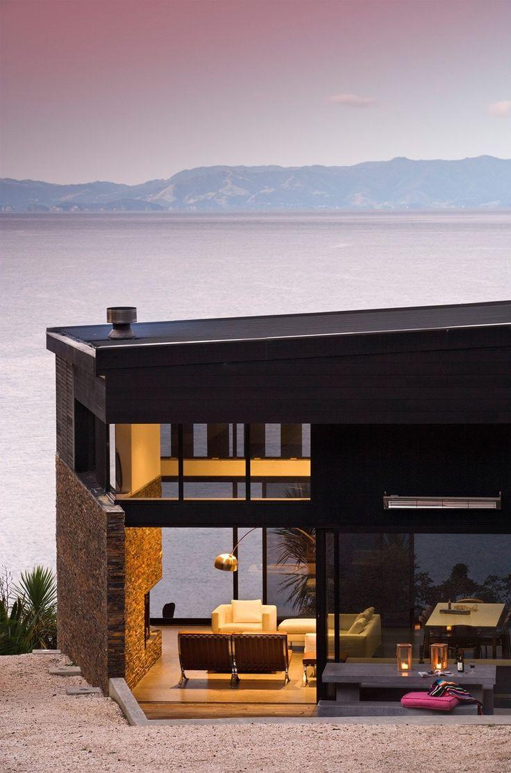 Daniel Marshall Architects Design A Home Overlooking The Bay, Waiheke Island, New Zealand
