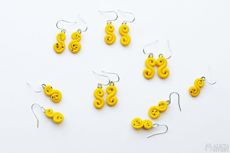 Lussebullar örhängen av Alicia Sivertsson.
