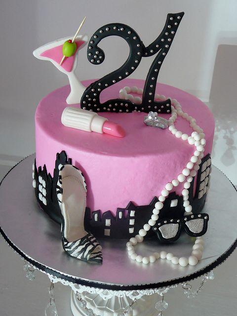 Torta para celebrar los 21