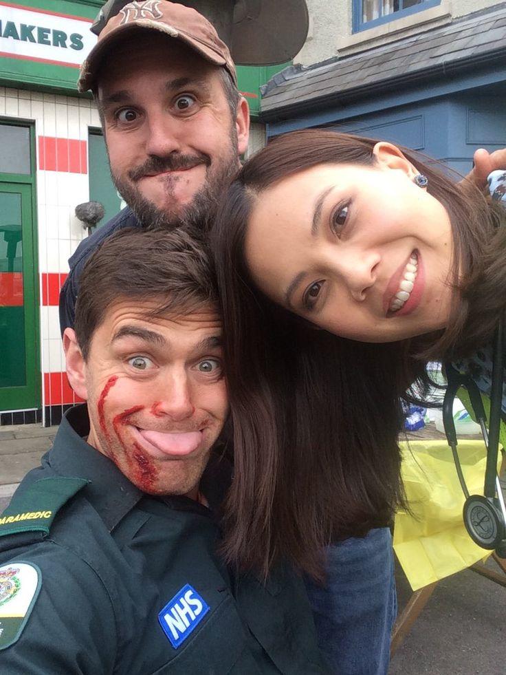 Steve Hughes, Michael Stevenson & Crystal Yu #Casualty30 BTS