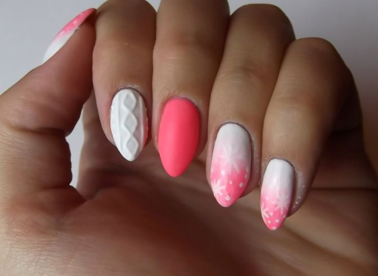 Knitted and ombre nails-Swetrek i ombre z Semilac