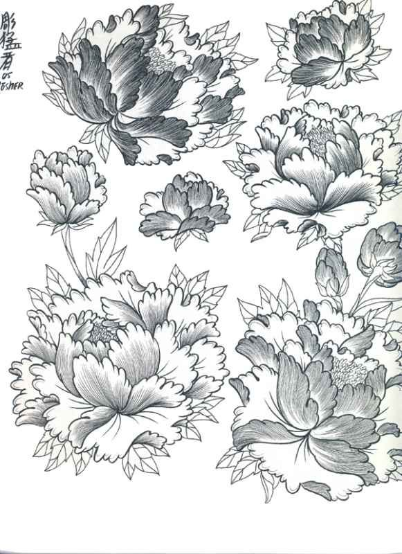 Japanese Flowers Tattoo Designs | Tattoobite.com                                                                                                                                                     More