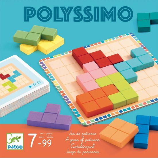 Jeu de tactique11 pièces en bois pour reconstituer un carré parfait et 30 cartes de défis avec des positions de départs imposés. À vos méninges!Nombre de joueurs: 1Âge: 7 ans et plus