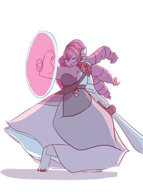 disteal:  Invader Rose in her pink diamond armor, wanted to create a more'dangerous' variation of her armor by sharpening some of her rounded petals, hopefully it conveyed well!