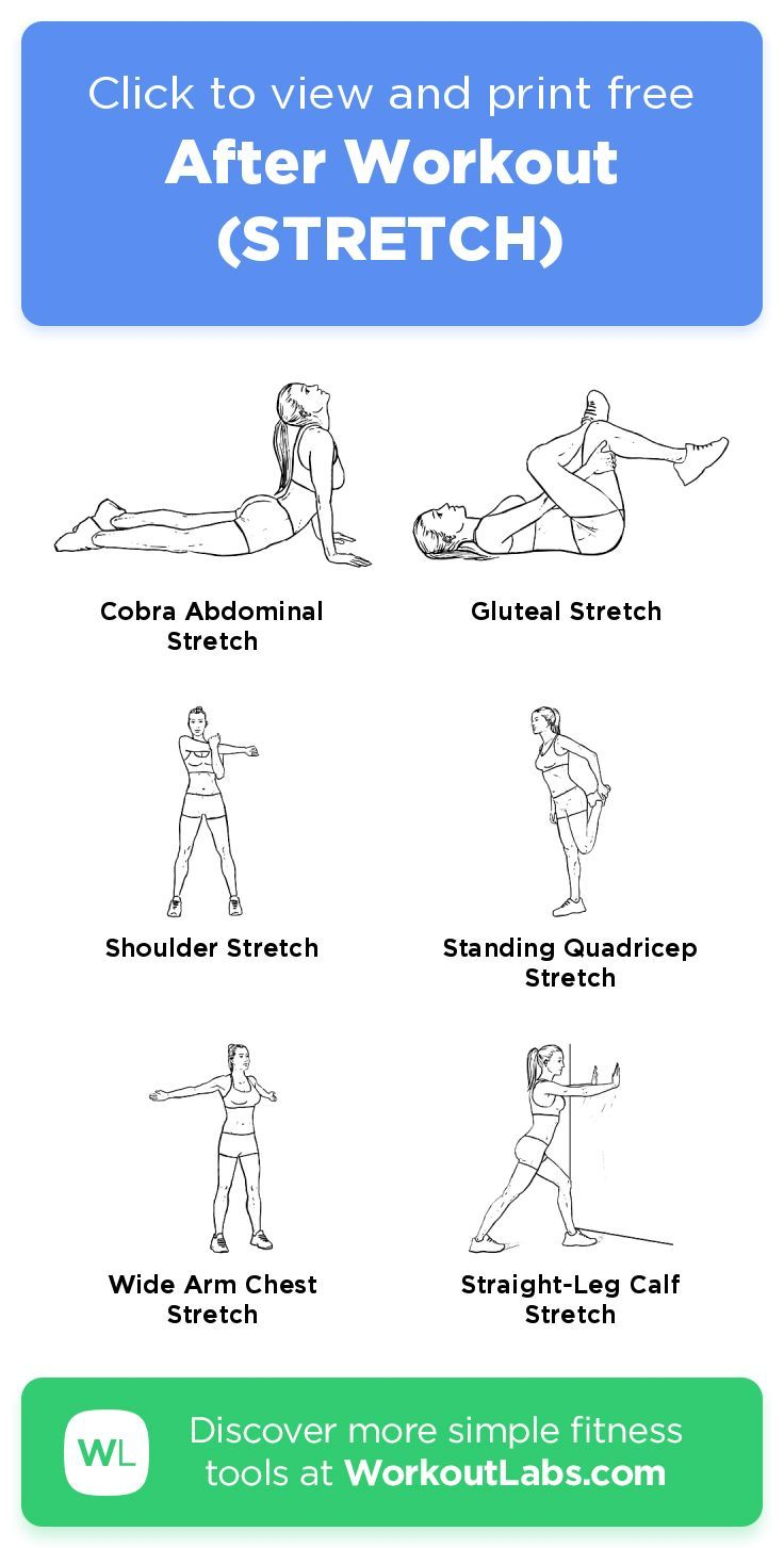 After workout stretch click to view and print this