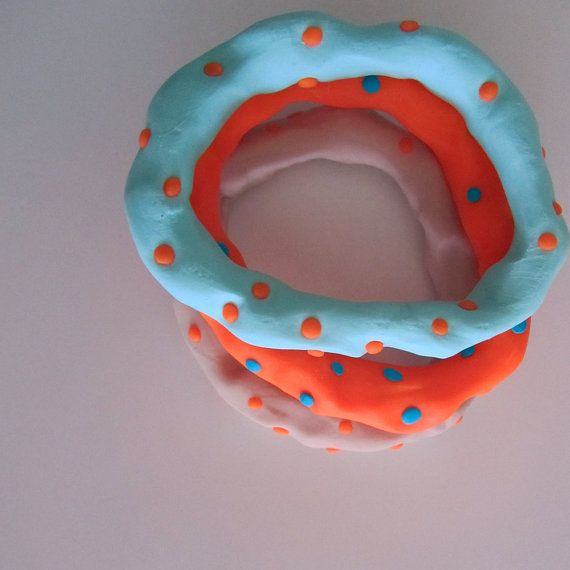 neon orange spot mint background BamBam stacking by bbppdesigns, $20.00
