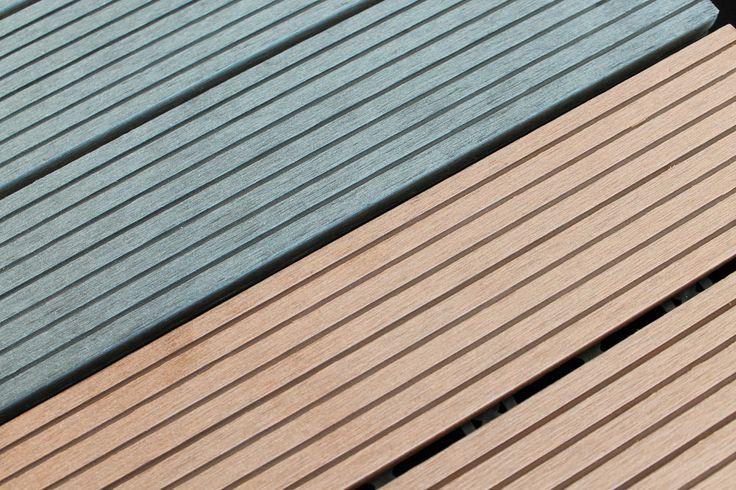 WPC Holz Fliese 30x30cm, 1 m² (11 Fliesen)Bodenfliese WPC Fliese Terasse Balkon in Garten & Terrasse, Landschaftsbau, Terrassen- & Gehwegmaterialien   eBay