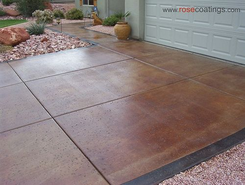 Stained concrete driveways concrete stain driveway for Remove stains from concrete driveway
