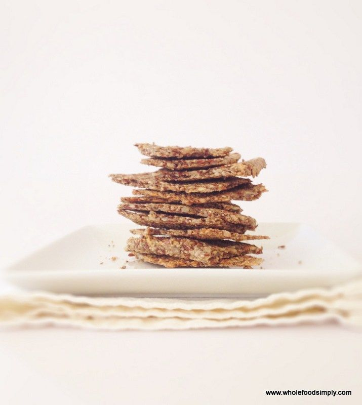 Seed Crackers.  So simple and delicious!  Free from gluten, grains, dairy, eggs and refined sugar.   Enjoy!